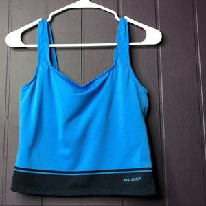 Size 10 Sports Top Bra Color is blue black